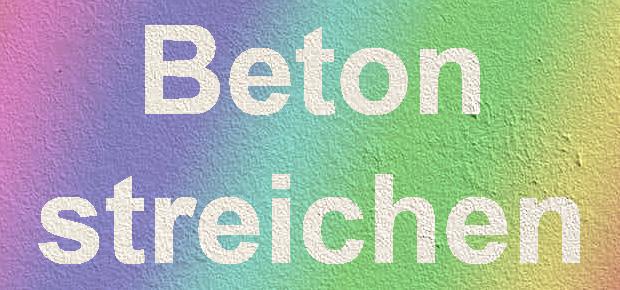 Frage Mit Welcher Farbe Kann Man Beton Streichen - Farbige betonplatten