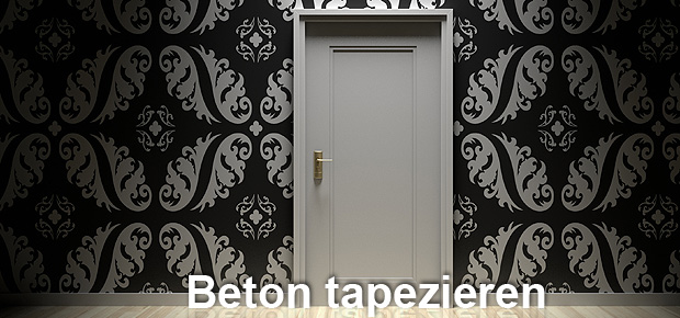tapete auf beton was muss ich beachten beim betonwand tapezieren. Black Bedroom Furniture Sets. Home Design Ideas